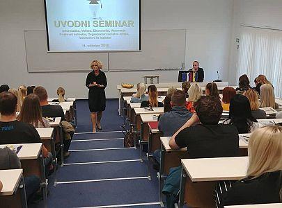 V četrtek, 11. oktobra 2018, smo na Abituri, višji strokovni šoli, sprejeli novo generacijo študentov