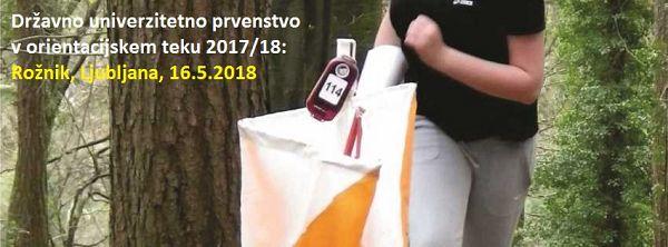 Državno univerzitetno prvenstvo v orientacijskem teku za študijsko leto 2017/18