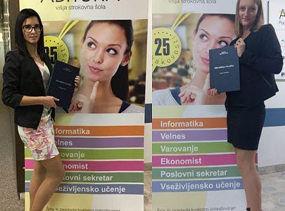 Prvi diplomantki študijskega programa Velnes na Abituri