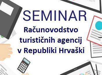 Seminar: Računovodstvo turističnih agencij v Republiki Hrvaški