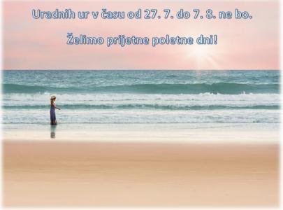 Uradne ure referata v času poletnih počitnic
