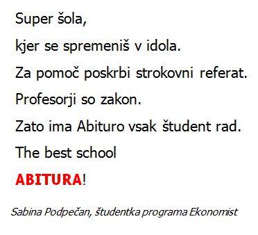 Sabina Podpečan - splet